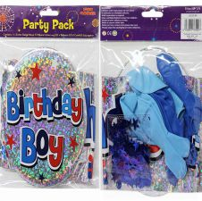 Blue Balloons Birthday Party Pack (Boy)