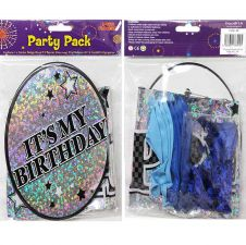 Badge Balloon and Banner Party Pack