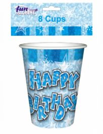 Blue Birthday Glam Cups (Pack of 8)