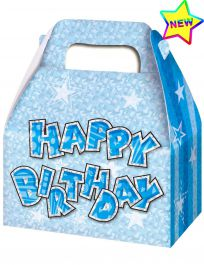 Blue Birthday Glam Party Boxes (Pack of 3)