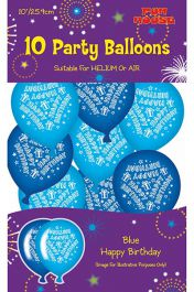 Blue Birthday Party Balloons (Pack of 10)