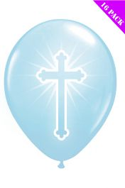 Blue Cross Balloons (Pack of 16)