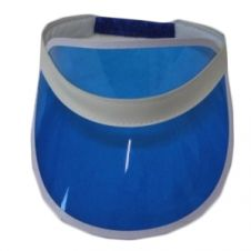 Blue Poker Visor Hat (12 Pcs)