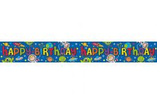 Boy Happy Birthday Banner (Space)