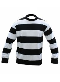 Children Black & White StripeConvict Knitted Jumper