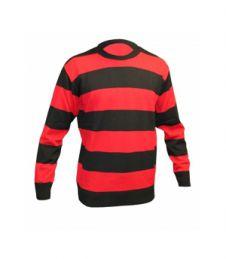 Children Red & Black Stripe Knitted Jumper
