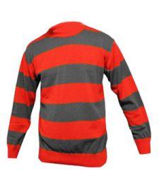Children Red & Grey Stripe Knitted Jumper