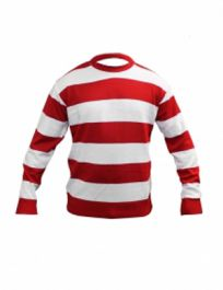 Children Red & White Stripe Knitted Jumper