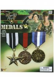 Combat Hero Medals (3 Pcs Pack)