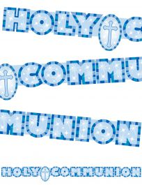 Communion Banner Blue