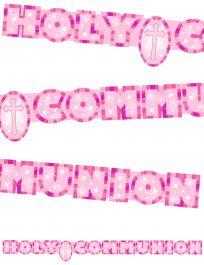 Communion Banner Pink