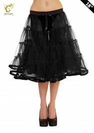 Crazy Chick Black TuTu Skirt with Ribbon (Approximately 18 Inches Long)