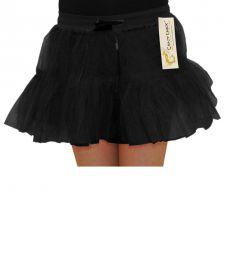 Crazy Chick Girls 2 Layers Black TuTu Skirt