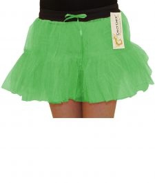 Crazy Chick Girls 2 Layers Green TuTu Skirt