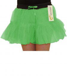 Crazy Chick Girls 2 Layers Green TuTu Skirt