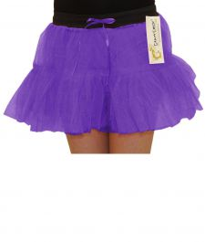 Crazy Chick Girls 2 Layers Purple TuTu Skirt