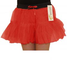 Crazy Chick Girls 2 Layers Red TuTu Skirt