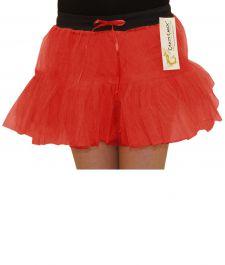 Crazy Chick Girls 2 Layers Red TuTu Skirt