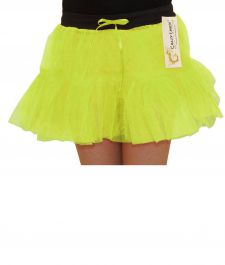 Crazy Chick Girls 2 Layers Yellow TuTu Skirt