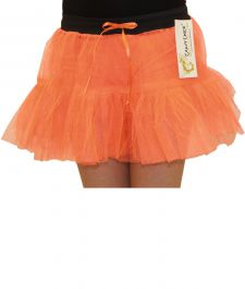 Crazy Chick Girls 2 Layers Orange TuTu Skirt