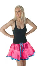 Crazy Chick 2 Layers Pink TuTu Skirt With Ribbon