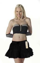 Crazy Chick 2 Layers Black TuTu Skirt