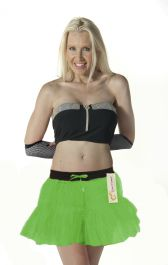 Crazy Chick 2 Layers Green TuTu Skirt