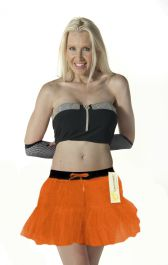 Crazy Chick 2 Layers Orange TuTu Skirt