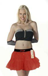 Crazy Chick 2 Layers Red Devil TuTu Skirt