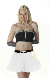 Crazy Chick 2 Layers White Angel TuTu Skirt