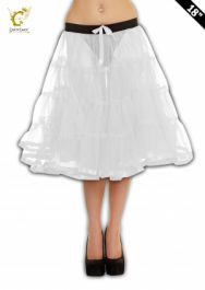 Crazy Chick White TuTu Skirt with Ribbon (Approximately 18 Inches Long)