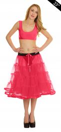 Crazy Chick 4 Tier Petticoat with Ribbon Pink TuTu Skirt (Approximately 23 Inches Long)