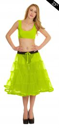 Crazy Chick 4 Tier Petticoat with Ribbon Yellow TuTu Skirt (Approximately 23 Inches Long)