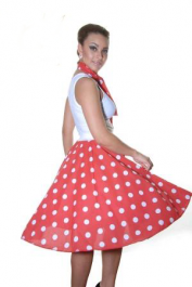 Crazy Chick Red White Polka Dot Skirt (26 Inches)