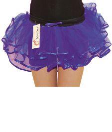 Crazy Chick Girls 3 Layer Purple Burlesque TuTu Skirt