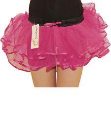 Crazy Chick 3 Layers Girl Pink Burlesque TuTu Skirt