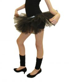 Crazy Chick Girls 3 Layers Black TuTu Skirt