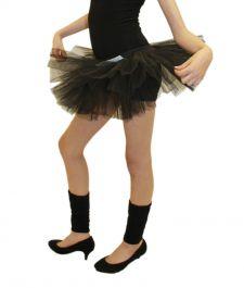 Crazy Chick Girls 3 Layers Black TuTu Skirt