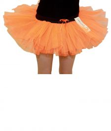 Crazy Chick Girls 3 Layers Orange TuTu Skirt