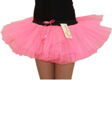 Crazy Chick Girls 3 Layers Pink TuTu Skirt