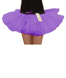 Crazy Chick Girls 3 Layers Purple TuTu Skirt