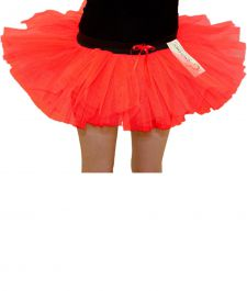 Crazy Chick Girls 3 Layers Red Devil TuTu Skirt