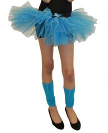 Crazy Chick Girls 3 Layers Turquoise TuTu Skirt