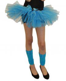Crazy Chick Girls 3 Layers Turquoise TuTu Skirt