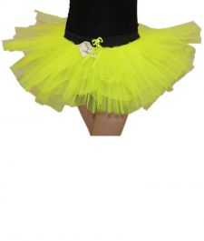 Crazy Chick Girls 3 Layers Yellow TuTu Skirt