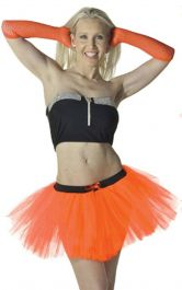 Crazy Chick 3 Layers Orange TuTu Skirt