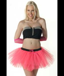 Crazy Chick 3 Layers Plain Pink TuTu Skirt