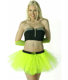 Crazy Chick 3 Layers Plain Yellow TuTu Skirt