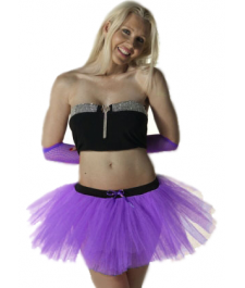 Crazy Chick 3 Layers Purple TuTu Skirt