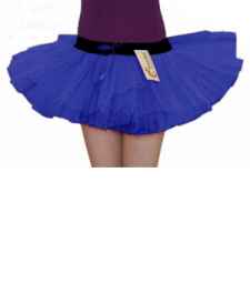 Crazy Chick 3 Layers Royal Blue TuTu Skirt